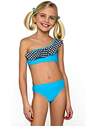 Mädchen Bikini-Set Tankini Badeanzug Beachwear 7–12Jahre M 53New