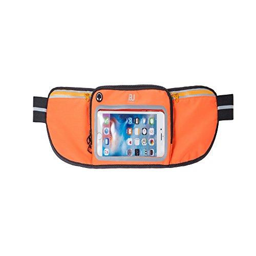 Lauftasche mit elastischem Bund Outdoor-Paket Großhandel, IPhone Touch-Screen, Taille läuft, Fitness, Multi-Funktions-Sport-Taille, wasserdicht, elastisch. Atmungsaktive Radtasche ( Farbe : Orange )