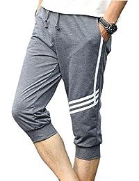 Juqilu Hombre Pantalones Cortos Deportivos - Bermudas Pantalones cortos con cordón Moda Cintura Elástica Pantalones de playa…