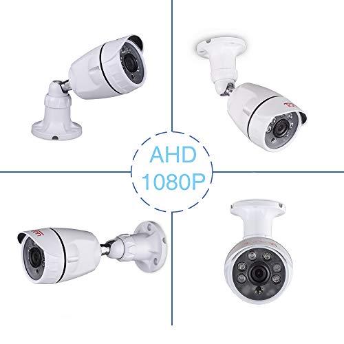 Tonton 1080P AHD 2.0MP Überwachungskamera Außenkamera Zusatzkamera für 1080P AHD TVI DVR Überwachungssystem Nachsicht Wasserdicht Home Security Motion Detection Alarm Tag Nacht Kamera Metallgehäuse Home Security Alarm