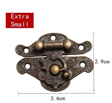 MYAMIA Antike Retro Dekorative Klatsche Vintage Holzschmuck Box Schublade Hasp Pad Brust Schloss 4 Größen-Extra Klein
