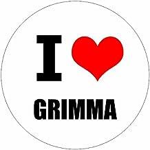 I love Grimma Leipzig in 2 Größen erhältlich Aufkleber mehrfarbig Sticker Decal