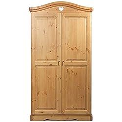 Armario 2 puertas de madera pino macizo - color natural