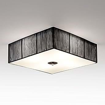 s`luce [Twine] BLACK Deckenlampe 4-flammig, 45x45cm/H12cm, schwarz LD002 45x45/H12 BK