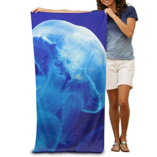 Kenice Super Soft Bath Towel Jellyfish Glowing Quick-Drying Beach Towel Travel Blanket Swimming Spa Towel Large Size 31.5x51.2inch/80x130cm