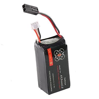 Vococal 11.1V 2500mAh Li-po Battery Batteries Cells for Parrot AR.Drone 2.0