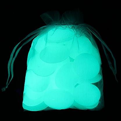 Decorative Glow in the Dark Gravel,Garden Pebbles,Glow Stones Glow Rocks,Glow Pebbles for Fish Tank Aquarium Walkway… 4