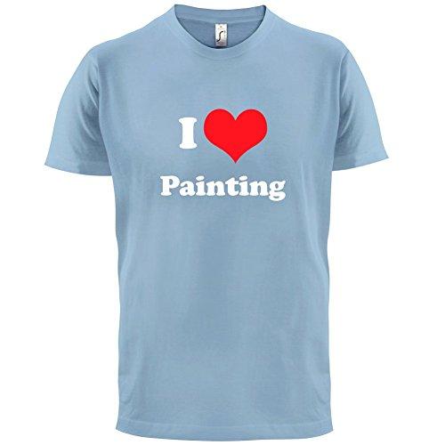 I Love Painting - Herren T-Shirt - 13 Farben Himmelblau