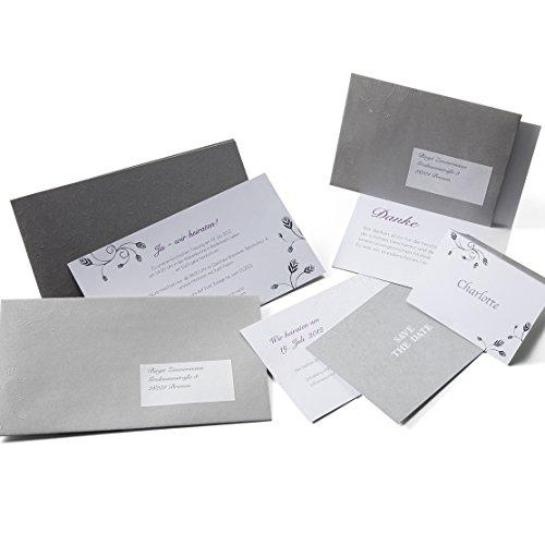 Einladungskarten Set 'Melody' zur Hochzeit, Silberhochzeit - inkl. Einladungen, Save-the-Date, Danksagungen.