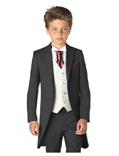 Paisley of London, garçons costume gris, garçons Costume queue de pie , garçons habit avec choix de cravates, 12-18m mois - 13 ans Paisley of London