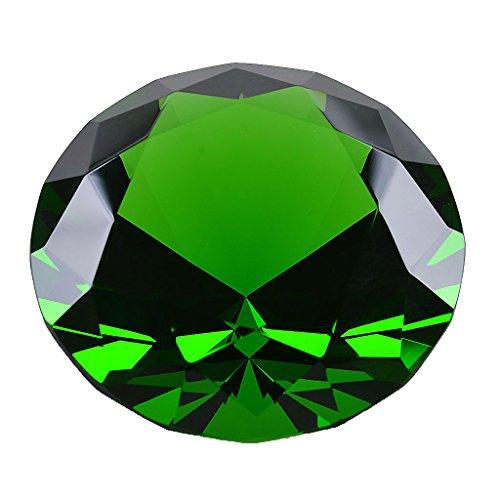 stall-/Diamant-Briefbeschwerer, Ornament, für Zuhause, Dekoration, grün ()