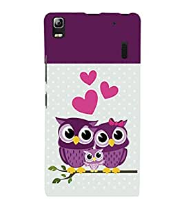 printtech Owls Back Case Cover for Lenovo K3 Note