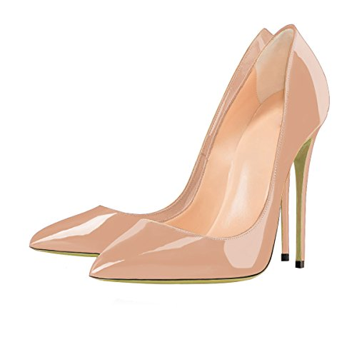 uBeauty - Escarpins Femmes - Chaussures Stilettos - Talon Aiguille - Grande Taille - Chaussures Femme Talons beige b