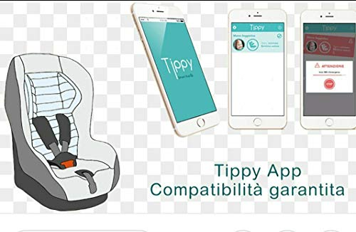 Ricambi auto Dispositivo Anti-ABBANDONO DIGICOM Tippy Cuscino per Seggiolino Bluetooth