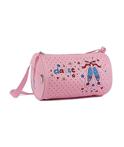 Ballett-Tasche 262 für Mädchen Farbe rosa mit Motiv für Ballett Tanz Fitness Sport Freizeit Gymnastik Beutel Geschenk