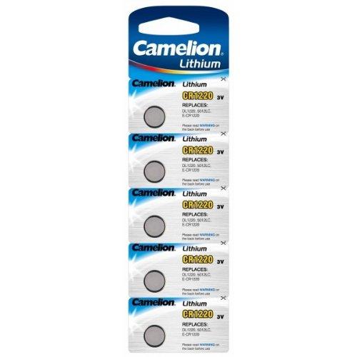 CAMELION Lot de 2 Packs de 5 piles Camelion Lithium CR1220 3V
