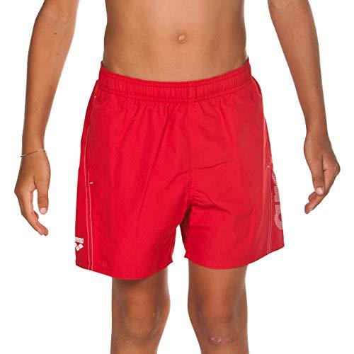 arena Jungen Badeshorts Fundamentals Logo Boxer Junior (Schnelltrocknend, Mesh- Innenslip, Seitliche Taschen), Red-White (401), 152