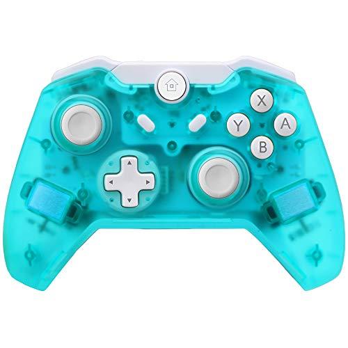 JFUNE Wireless Pro Controller per Nintendo Switch, Controller Telecomandi Gamepad Bluetooth per Nintendo Switch 9.0 Verde (Versione di Aggiornamento)