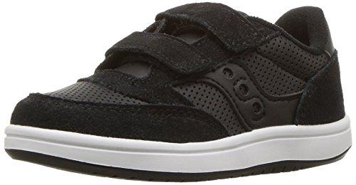 Saucony Baby Jazz Court Sneaker, Black, 6.5 Wide US Toddler -