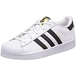 Adidas Superstar C, Zapatillas de Baloncesto Unisex Niños, Blanco (Footwear White/Core Black/Footwear White 0), 35 EU
