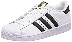 adidas Unisex Kids' Superstar C Gymnastics Shoes, Core Black/Footwear White, 1 UK 33 EU