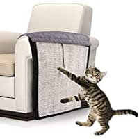 Kardu Katzenkratzbrett - Sisal Kratzteppich für Katze,Katzen-kratzbrett Sofa Schutzpolster Heimtierbedarf Kratzschutz for Katze Hund 117x29x5CM