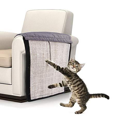 Kitabetty Tapete rascador para Gatos, Cubierta de Protector de Muebles de sisal Natural, Anti arañazos para Gatos, para Muebles Sofá de Pared, Protector de colchón, 117 × 29 × 5 cm