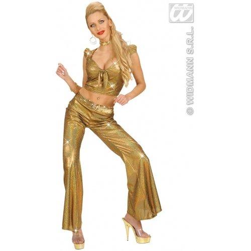 WIDMANN Générique Holographie-Top, sexy, für Damen, Größe M, - Kostüm Soiree Disco