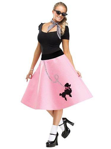Unbekannt 50er Petticoat-Rock mit Pudel rosa S / M