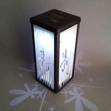 0.06W Artistic White Glass LED Solar Garden Light in Cuboid Feature £¨TYN)