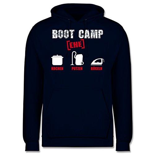 Typisch Männer - Boot Camp Ehe - Männer Premium Kapuzenpullover / Hoodie Dunkelblau