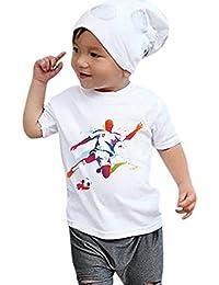 QinMM Camiseta Estampada de Fútbol Para Niños Bebé, Tops Camisa de Verano ...