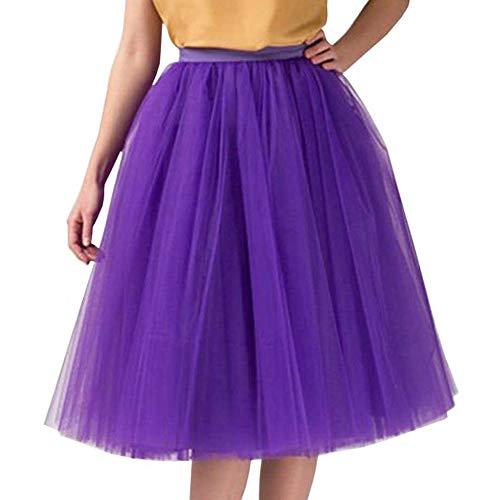 WOZOW Tanzkleid Multi-Schichten Elegant Tanzkleid Party Crinoline Abendkleid FrauenTanzkleid...