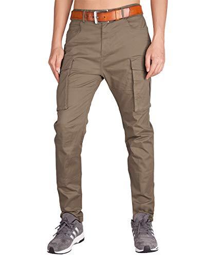 1e9079a55 Italy Morn Chino Cargo Pantaloni Tattici Militari Uomo Sport Multi-Pockets  (2XL, Legname