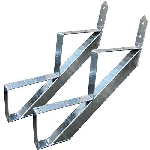 2 Stufen Treppenrahmen Stahl-Treppenwange Treppenholm Geschosshöhe 34cm Verzinkt/Ideal für den Einsatz im Innen und Außenbereich