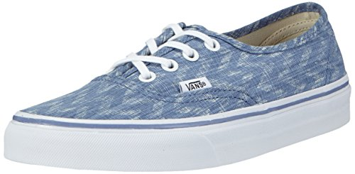 Vans U Authentic, Unisex-Erwachsene Sneakers Blau ((Denim Chevron) blue/true white)