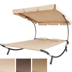 double bain de soleil transat couleur beige 2 places. Black Bedroom Furniture Sets. Home Design Ideas