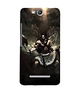 FUSON Parshu Ram Graphic Painting 3D Hard Polycarbonate Designer Back Case Cover for Micromax Bolt Q338