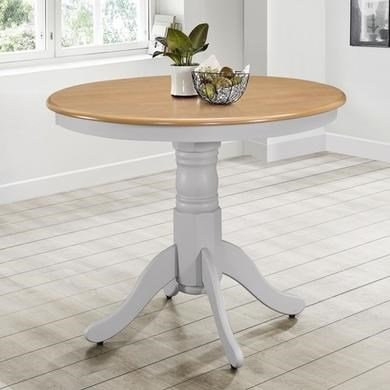 Rhode Island Round Dining Table in Grey