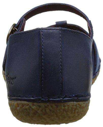 Kickers Hibou, Ballerines femme Bleu (Marine Bleu)