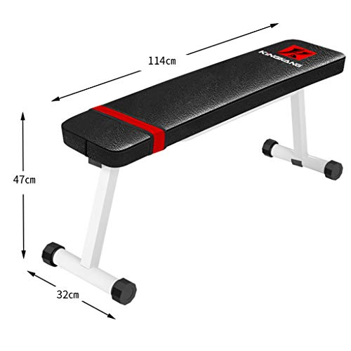 DLT Hantelbank, Flache Workout Bar Preacher Curl Bank mit Gewichten zu Hause Ausrüstung, Olympic Weight Bench, Sit Up AB Bank (Farbe : Weiß)