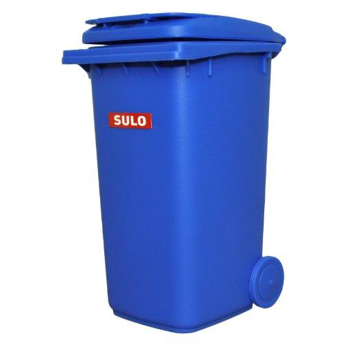 inal SULO große Ausführung 240 Liter BLAU Miniatur Behälter Aufbewahrung Tischmülleimer Stiftehalter Büro Spielzeug Sammlerstück ()