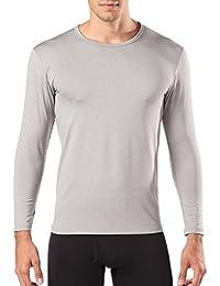 LAPASA Camiseta Térmica, PACK de 2 Manga Larga para Hombre. -Brushed Back Fabric Technique-