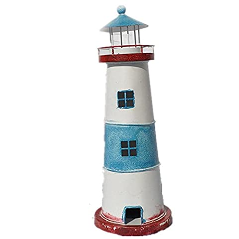 xiuxiandianju Eastern Mediterranean Style Tin Lighthouse Candle Holder Creative Home