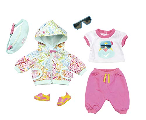 Zapf Creation 827192 Baby Born Play&Fun Deluxe Fahrrad Outfit rosa, weiß, Mint
