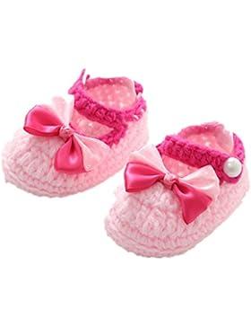 Baby Schuhe Mädchen Lauflernschuhe Krabbelschuhe Warm häkeln handgemachte Knit Schuhe Bogen Woll Luckygirls
