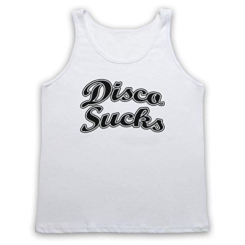 Disco Sucks Retro Tank-Top Weste Weis