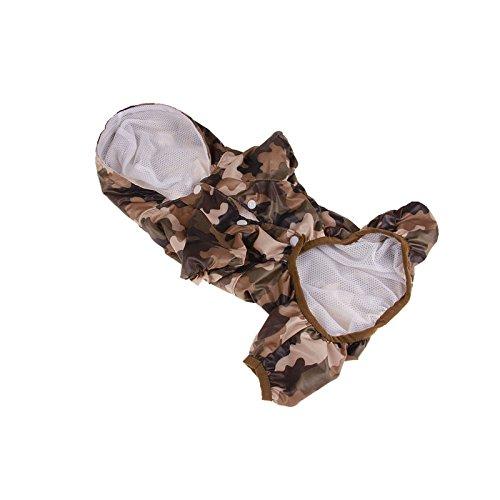 Wuxi Chuannan - Chaqueta Impermeable de Doble Capa para Lluvia (Resistente a los Rayos UV, para Perros Grandes y pequeños)