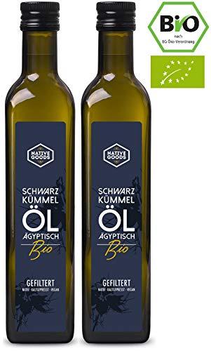 Schwarzkümmelöl BIO | ägyptisch - kaltgepresst - nativ - 100% naturrein | native goods - 1000ml
