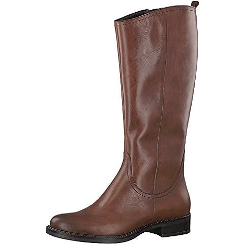 Tamaris 1-1-25554-29 Damen Stiefel, Stiefelette, Boot, Winterstiefel, Herbstschuh für die modebewusste Frau, funktionaler Reißverschluss braun (COGNAC), EU 38
